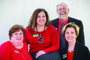 Left to right: Wendy Dunbar, Shareen Berkowitz,  Jim Ensor, and Gail Nichols