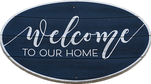 """Amanda's """"Welcome to Our Home"""" Sign"""